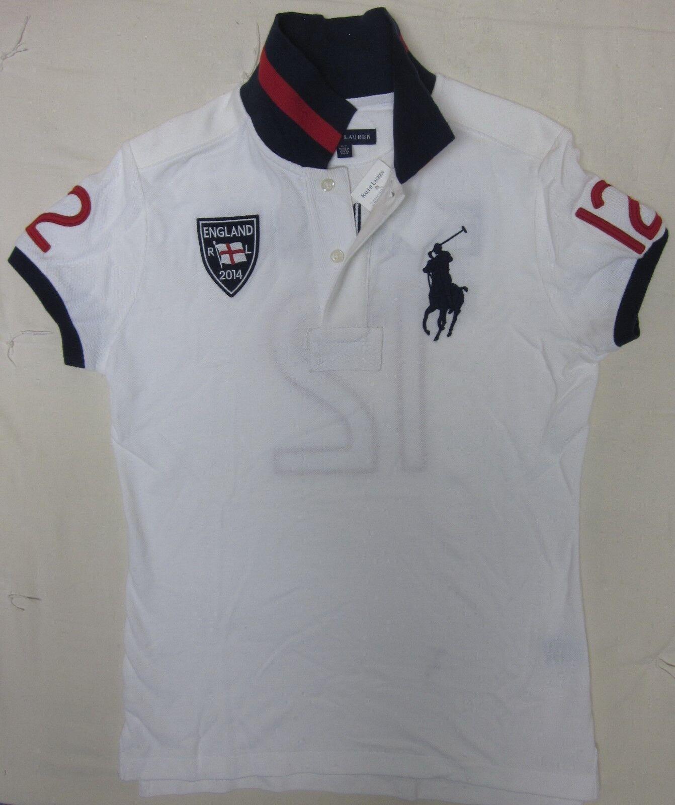 Polo Ralph Lauren England Flag Top Big Pony Mesh Shirt Tennis
