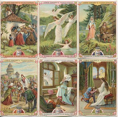 Amabile Chromo Liebig Sang. 643 Ted Schwanhilde (favola) Anno 1900 Piacevole Nel Dopo-Gusto