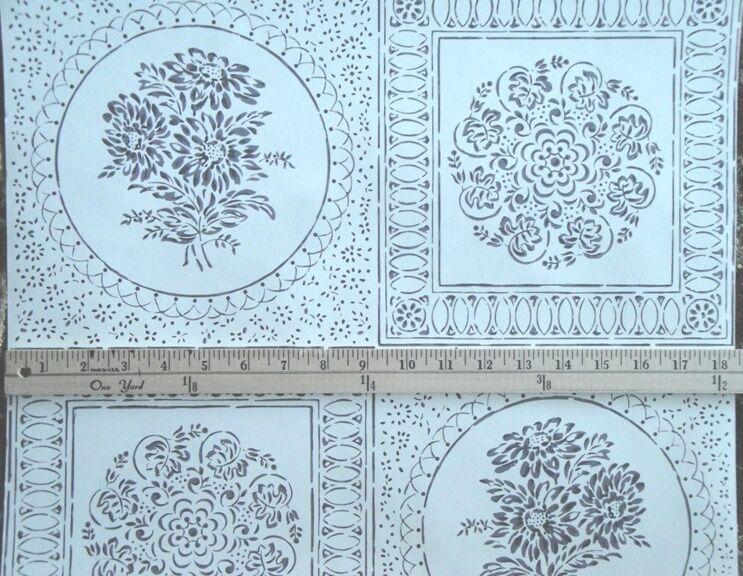 12sr Thomas Strahan Floral Medallion Medallion Medallion Graphic Historical Repro Wallpaper 9160c0