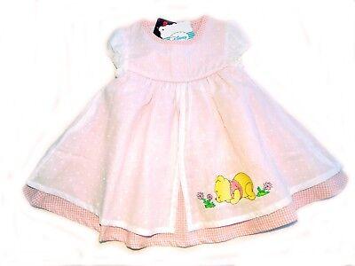 Neu!Disney Winnie Pooh Kleid Sommerkleid Festkleid zweilagig  Baumwolle 62 68 74