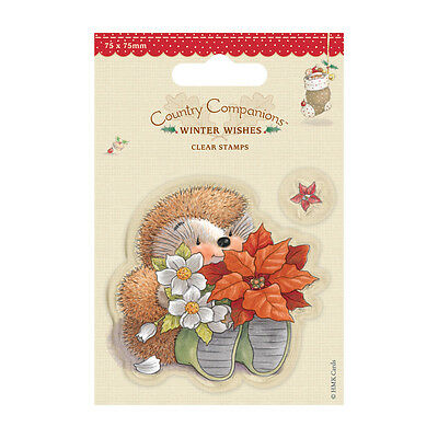 POINSETTIA - COUNTRY COMPANIONS - MINI CLEAR STAMP SET