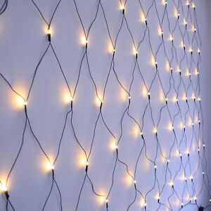 Details About Led Net Light Warm White Green Or Transparent Wire Christmas Lights By Qbis