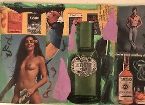 Collage-Mail-Art-Steve-Camaro-Large-Postcard-ORIGINAL-Art-vintage-Images