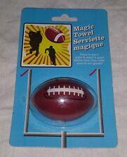"American Football Pigskin Magic Towel Serviette Magique 11"" x 11"" NEW Sealed"