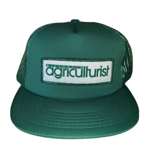 Vintage Wisconsin Agriculturist Green Snapback Mes