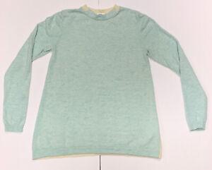 XS-Women-s-Vineyard-Vines-Merino-Wool-Cashmere-Blend-Color-Block-Sweater-Blue