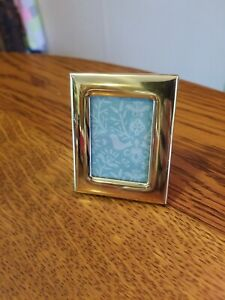 """Cute Retro Vintage Gold Small Standing Frame Kickstand Back Metal 2""""x2.5"""""""