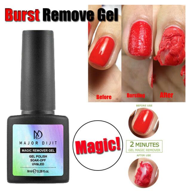 Burst Magic Remove Gel Nail Polish Soak off Acrylic Clean Degreaser 8ml HOOT
