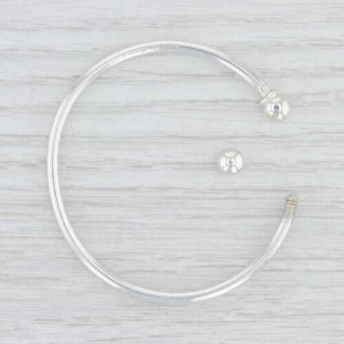 """New Cuff Bracelet breloque en argent sterling 6.5/"""" 2.7 mm bouchon à vis"""