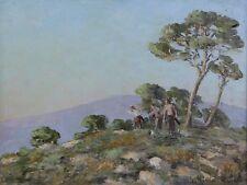 Michel MICHAELI (XX) Paysage de l'ile de Corse Corte Provence Marseille