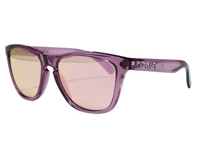 6dec21528 NEW OAKLEY Frogskins Snow Alpine Polished Violet w/ VR50 Pink Iridium,  OO9013-73