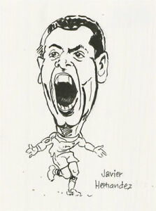 Terry Shelbourne (1930-2020) - Pen and Ink Drawing, Javier Hernandez