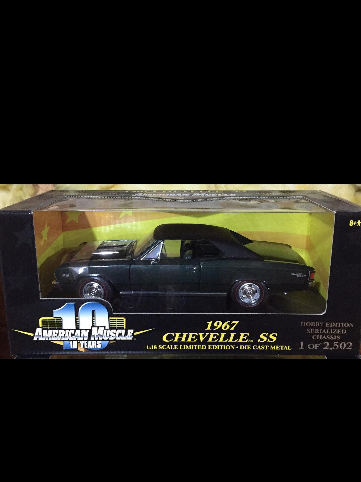1967 Chevelle SS396 Emerald Green 1 18 Ertl American Muscle 32639