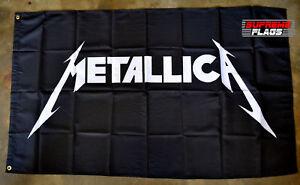 Metallica-Flag-Banner-3x5-ft-Heavy-Metal-Band-Black