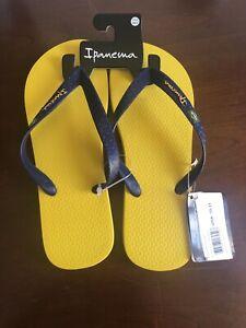 Brazil Unisex Slippers Flip Flops Size Large