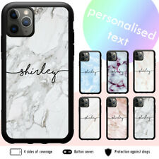 iPhone 11 Pro Max SE 2020 XS XR X 8 7 6 Shockproof Case Marble Personalised Name