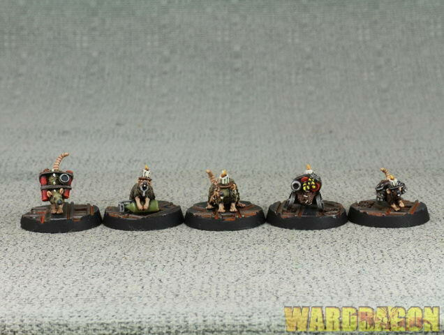 25mm ForgeWorld WDS painted Necromunda Cawdor Bomb  Delivery Rats h50  Felice shopping