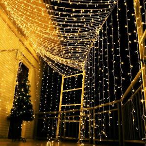 Weihnachten LED Außen LED Lichterkette Lichternetz Lichtervorhang Beleuchtung DE