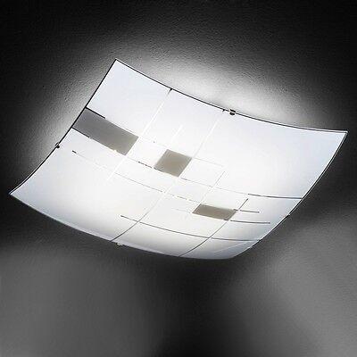 Mutig Led Deckenlampe Eckig Glas Deckenleuchte Wohnzimmer Schlafzimmer Deckenlampe Klar Und Unverwechselbar