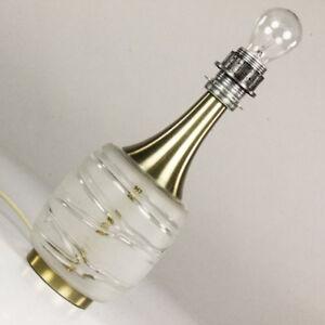 VTG-Tisch-Lampe-Doria-Glas-Fuss-Einschmelzungen-60er-70er-Jahre-alt-vintage-MCM