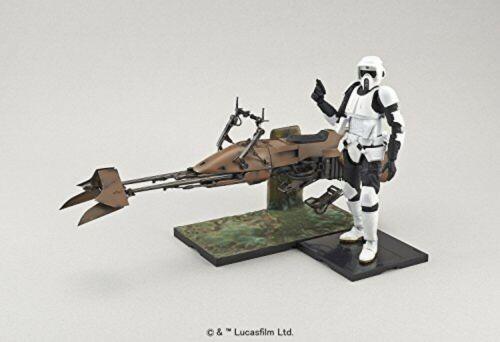 Bandai Star Wars Scout Trooper and Speeder Bike 1//12 Scale Plastic Model Kit new