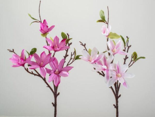 7 Stück Blüte mit Blättern massiv