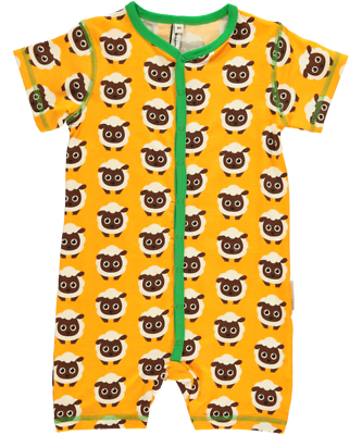 Maxomorra Rompersuit Button SS Spieler Strampler Schlafanzug Baby Walross