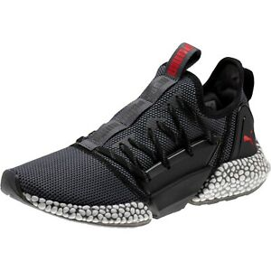 New Puma Hybrid Rocket Runner Mens Running Shoes Iron Grey Black Red ... c70e60a07