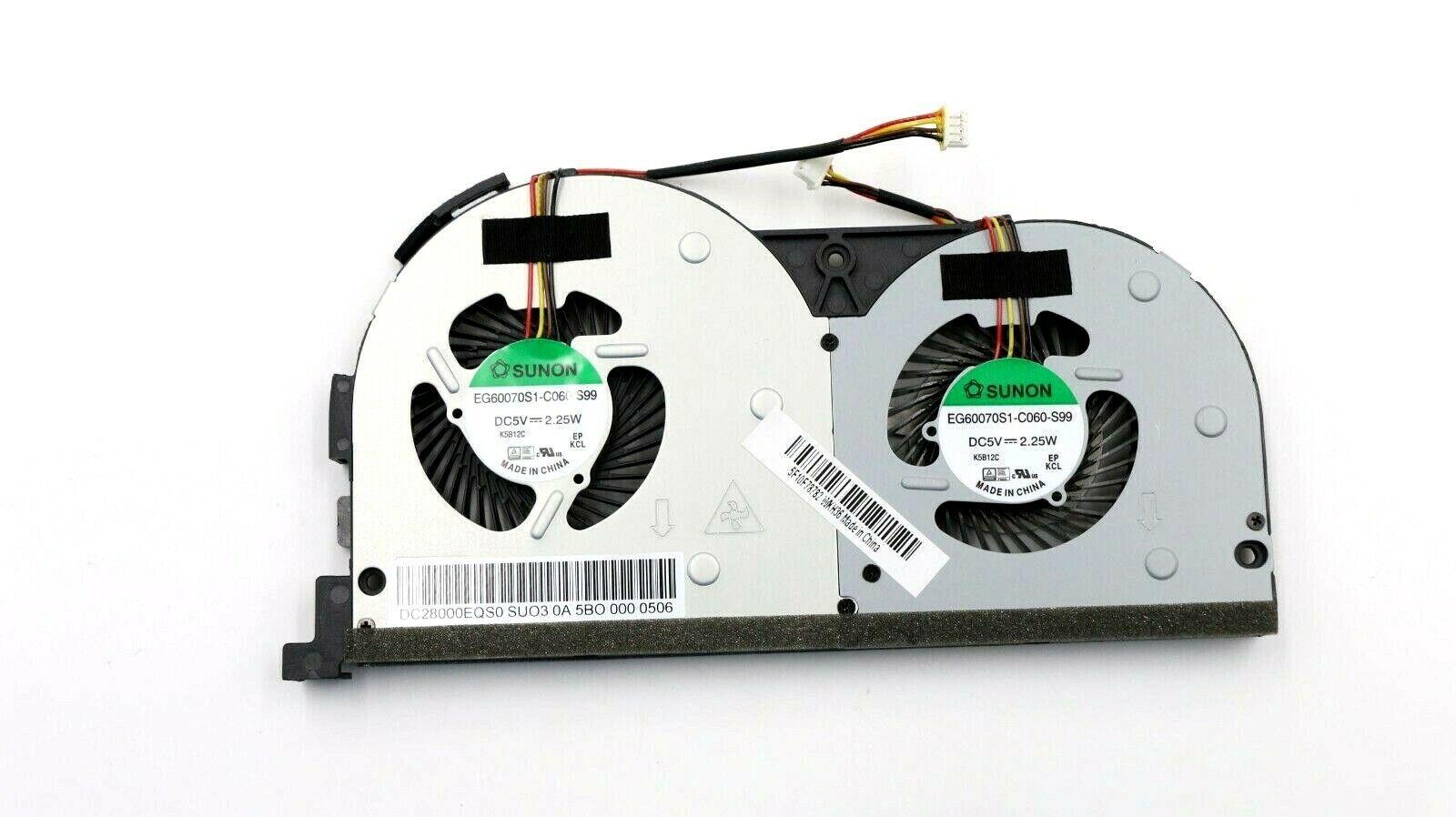5F10F78782 DC28000EQF0 Lenovo Cooling Fan Unit For Ideapad Y50-70 5942 59426255