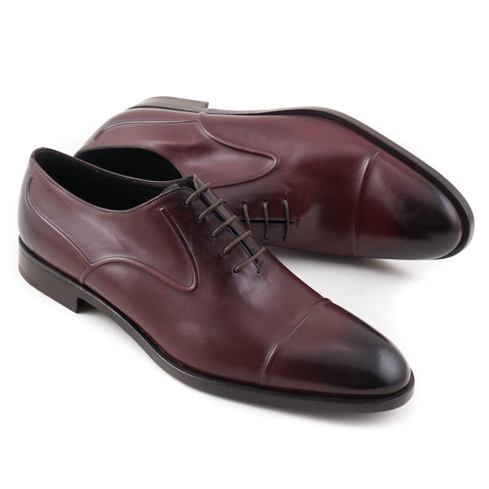Nuevo En Caja  Fratelli Rossetti Borgoña Cuero Cap Toe Oxford de vestir Zapatos EE. UU. 11.5