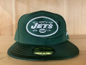 NEW-ERA-NEW-YORK-JETS-FITTED-HAT-GREEN-WHITE-NFL-59FIFTY-MEN-SIZE-7-8