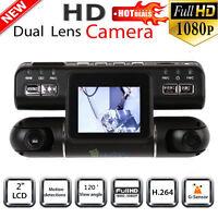 360° Hd 1080p 2.0 Car Dvr Camera G-sensor 360°wide Angle Recorder Dual Lens Gps on sale