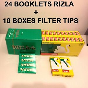 1200-RIZLA-GREEN-ROLLING-PAPERS-amp-1200-SWAN-EXTRA-SLIM-FILTER-TIPS-ORIGINAL