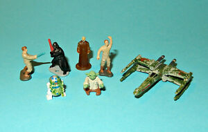 STAR-WARS-Micro-Machines-YODA-DAGOBAH-PLAYSET-FIGURES-X-WING-complete-lot-P