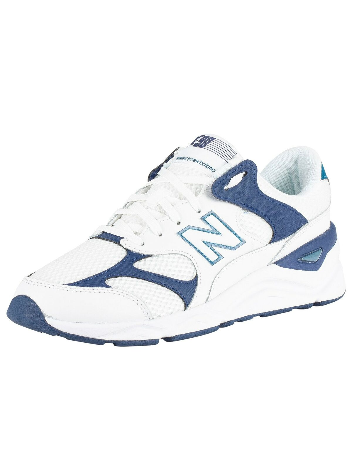 New Balance Men's X-90 Leather Mesh Trainers, White