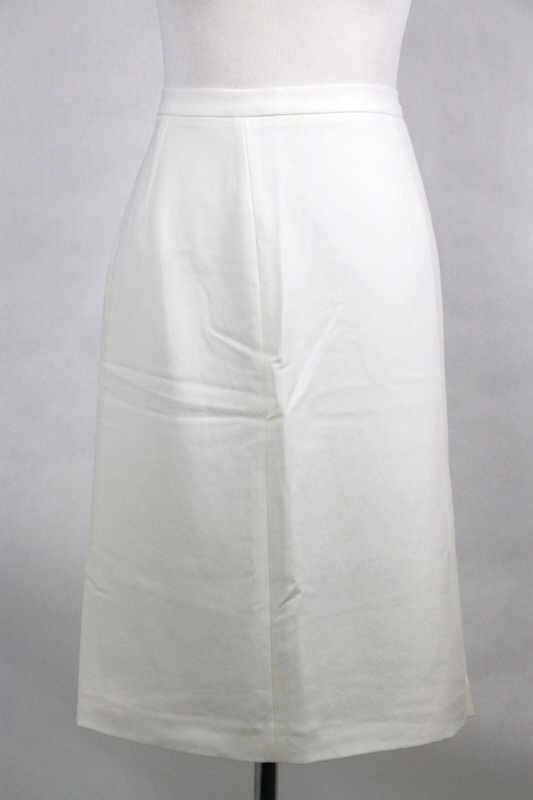 620 Bottega Veneta Pencil Skirt W Ruffle Tricetate Polyester White 307733 9030