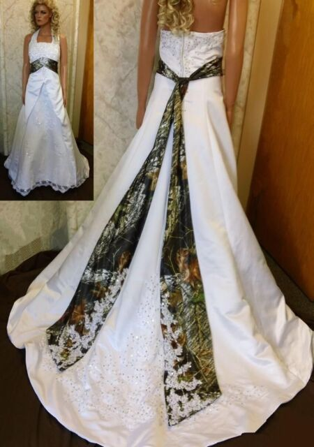 New Fashion Camo Wedding Dresses Embroidery Bridal Gowns Custom Made All Us Size