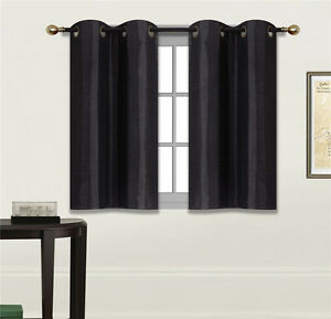 Image Is Loading 2 PANELS Bedroom Half Window Curtain Amp KITCHEN