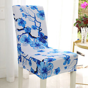 Removable-Stretch-Chair-Covers-Slipcovers-Dining-Room-Stool-Seat-Cover-Welt-OEE