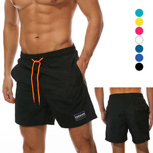 b4b9de531c Mens Swim Trunks Bathing Suit with Mesh Lining Quick dry Beach ...