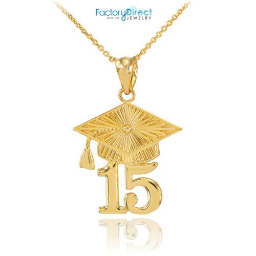 14k Gold 2015 Class Graduation Pendant Necklace