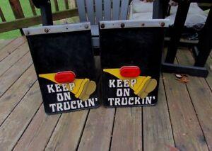 Details about Vintage 1970's KEEP ON TRUCKIN Truck Rat Rod Mud flaps -  Robert Crumb