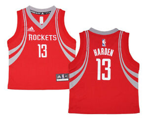 buy popular 4549e a7122 Details about Toddler James Harden #13 Houston Rockets NBA Adidas Red  Replica Jersey