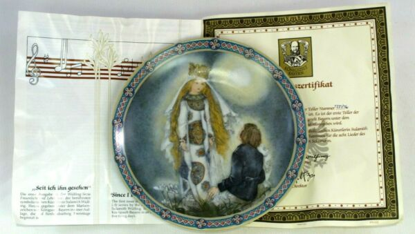 """seit Ich Ihn Gesehen"" Collectors Display Plate With Certificate Of Authenticity"
