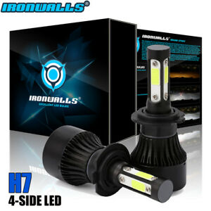 IRONWALLS H7 1900W 285000LM CREE LED Headlight Kits Hi/Lo Beam Bulbs 6000K HID
