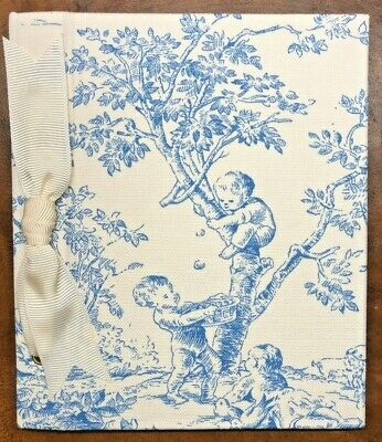 Baby Books & Albums Toile Photo Album Blue Fabric Central Park Baby Boys Girls Playing Children New Camera & Photo Accessories