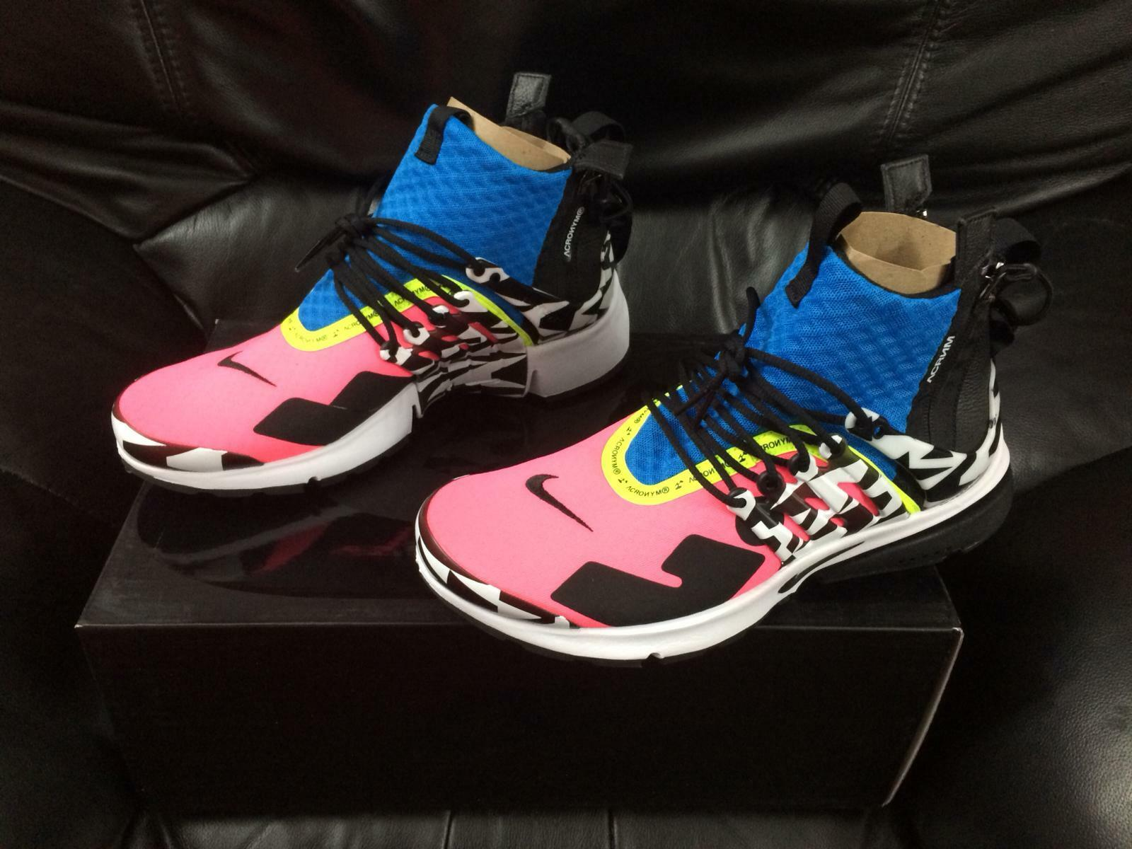2018 NIKE PRESTO X ACRONYM RACER PINK blueE NEW SIZES & 10