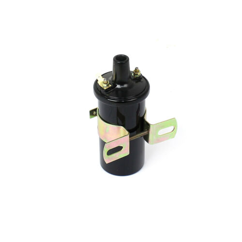 Round 12-volt Oil Filled Female Round Canister Ignition Coil Black universal
