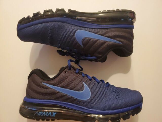 Nike Air Max 2017 Running Shoes Blue Black Mens Shoes [849559 401] Multi Size