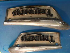 TRIUMPH 650 500 750 GAS FUEL TANK BADGES EMBLEMS 1969-1979 T120 T140 T100 TR6 7
